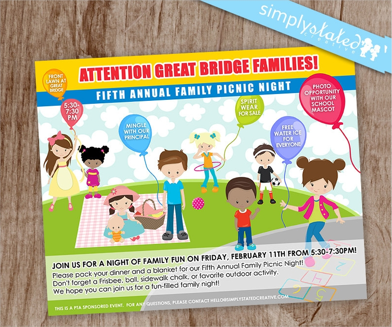 family picnic event flyer