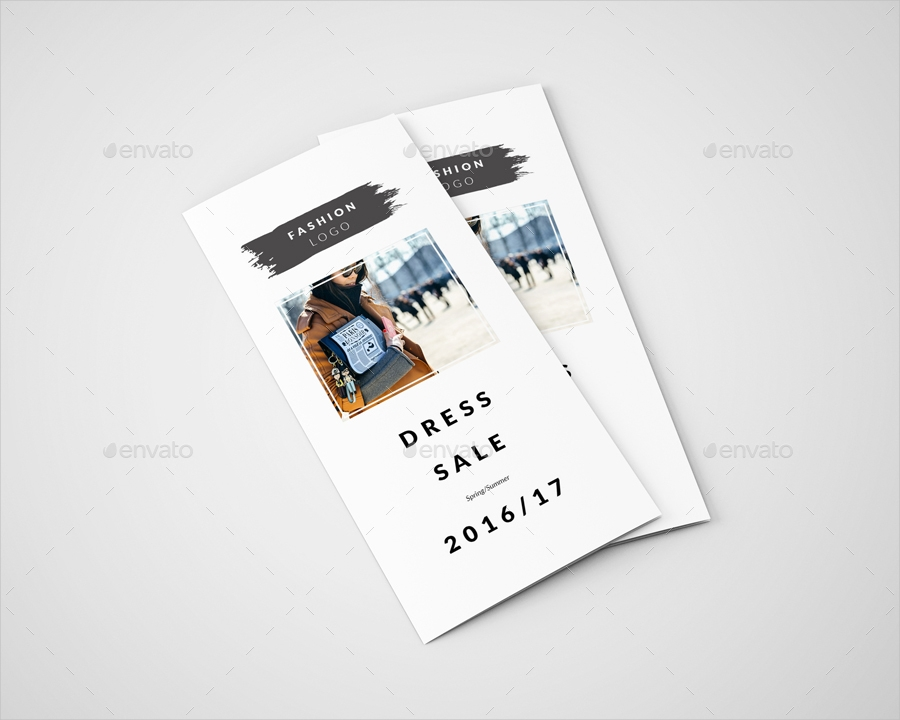 fashion sale trifold brochure