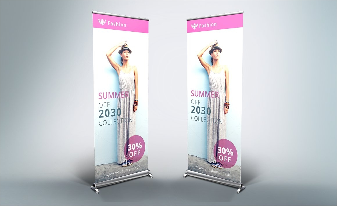 fashion style roll up banner