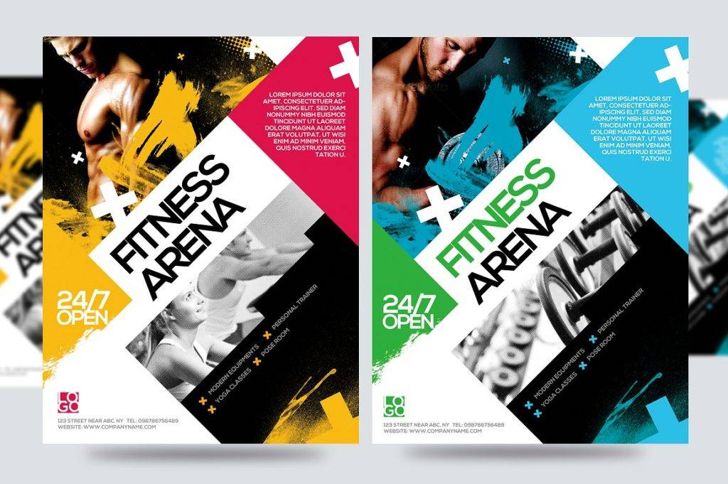 fitness arena gym flyer