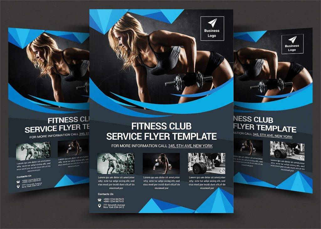 fitness club service flyer template