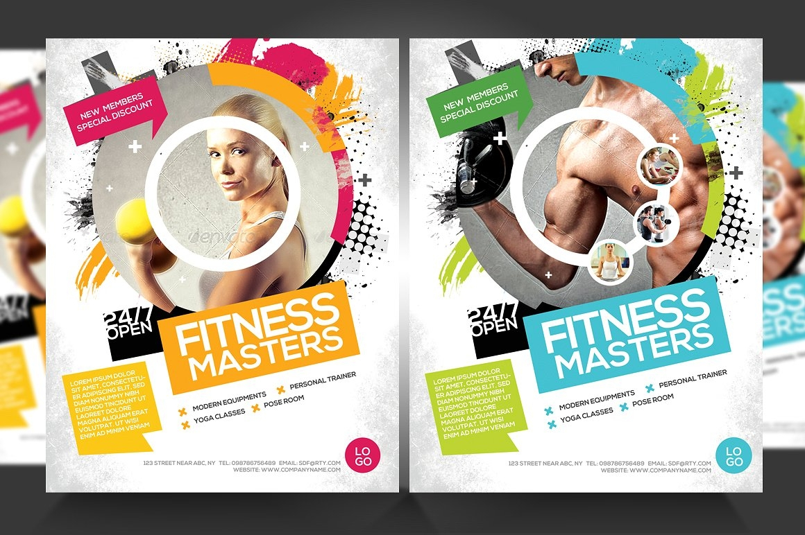 fitness gym business promotion flyer1