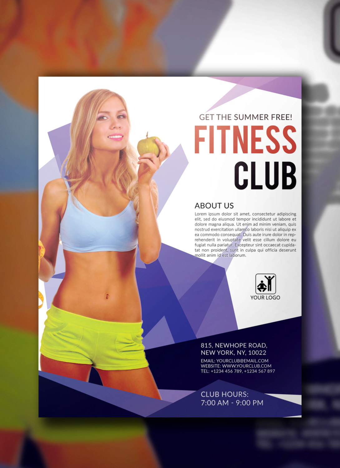 fitness gym flyer template in psd