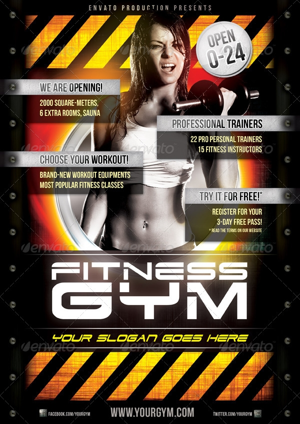 fitness gym flyer template1