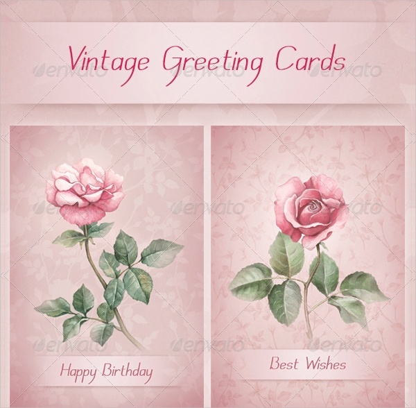floral vintage greeting cards