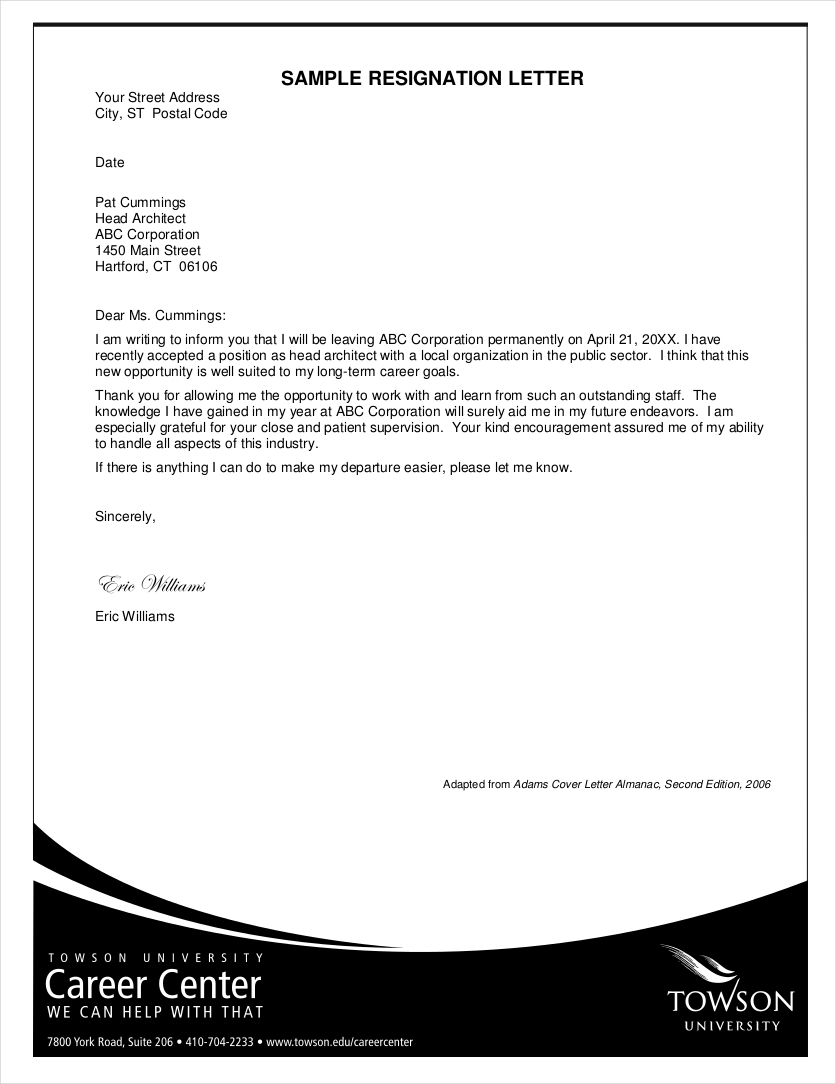 Formal-Resignation-Letter-Example1 Official Resignation And Complaint Letter Template on simple sample, sample teacher, two weeks notice, personal reasons, for kappa,