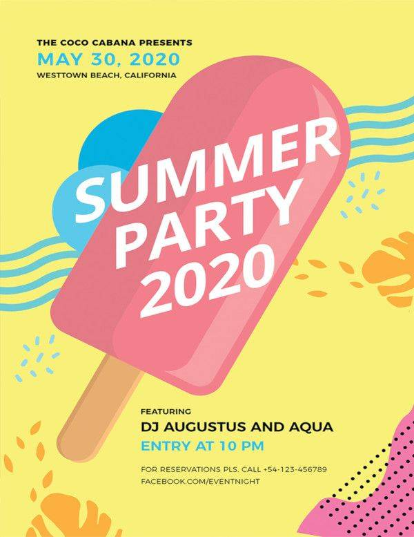 free party promotion flyer template 600
