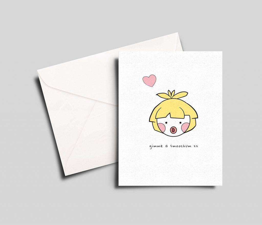gimme a smoochum pokémon greeting card