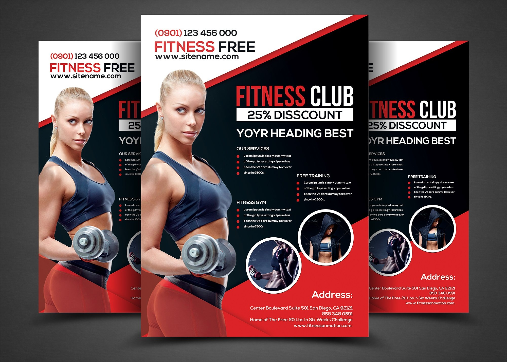 14 gym flyer designs examples psd ai for Fitness brochure template