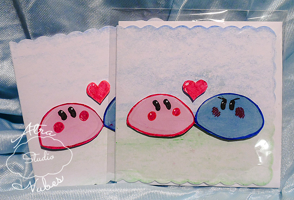 hand drawn clannad dango daikazoku kawaii anime greeting card