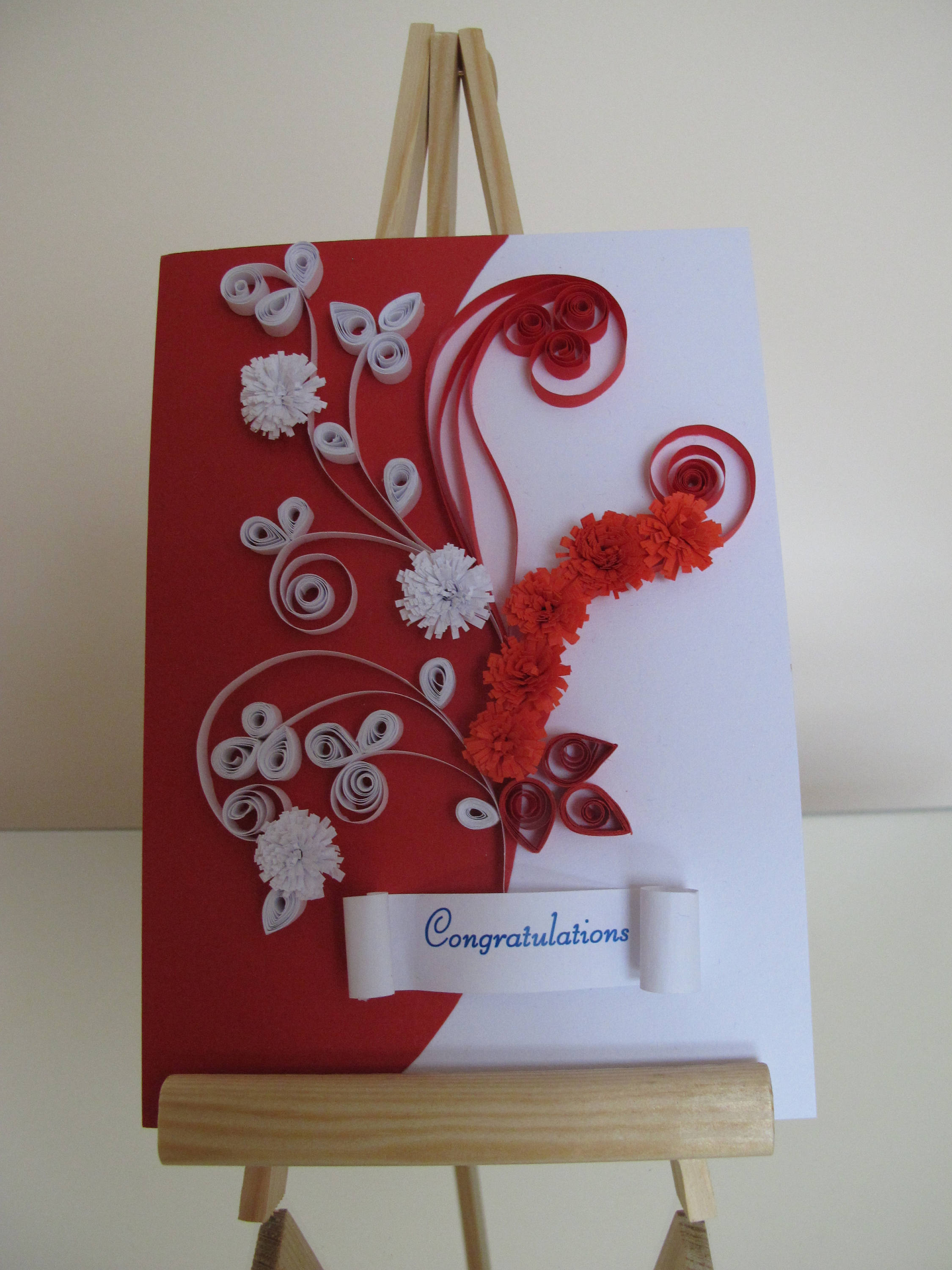 handmade congratulations wedding greeting card