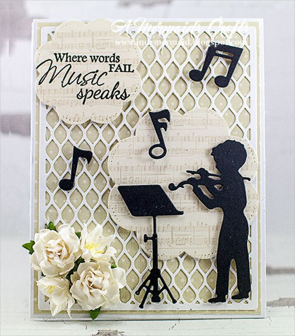 handmade when music speaks musical greeting card