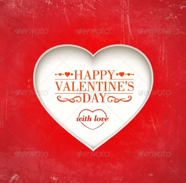 happy valentines love greeting card