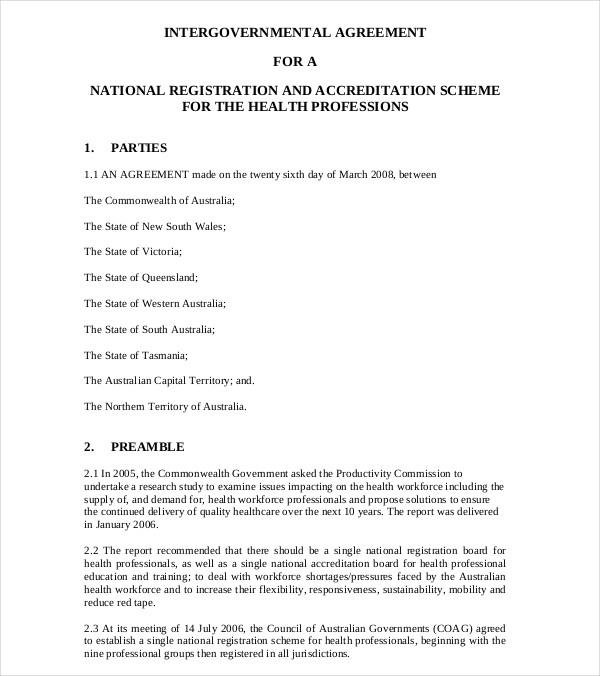 health workforce agreement