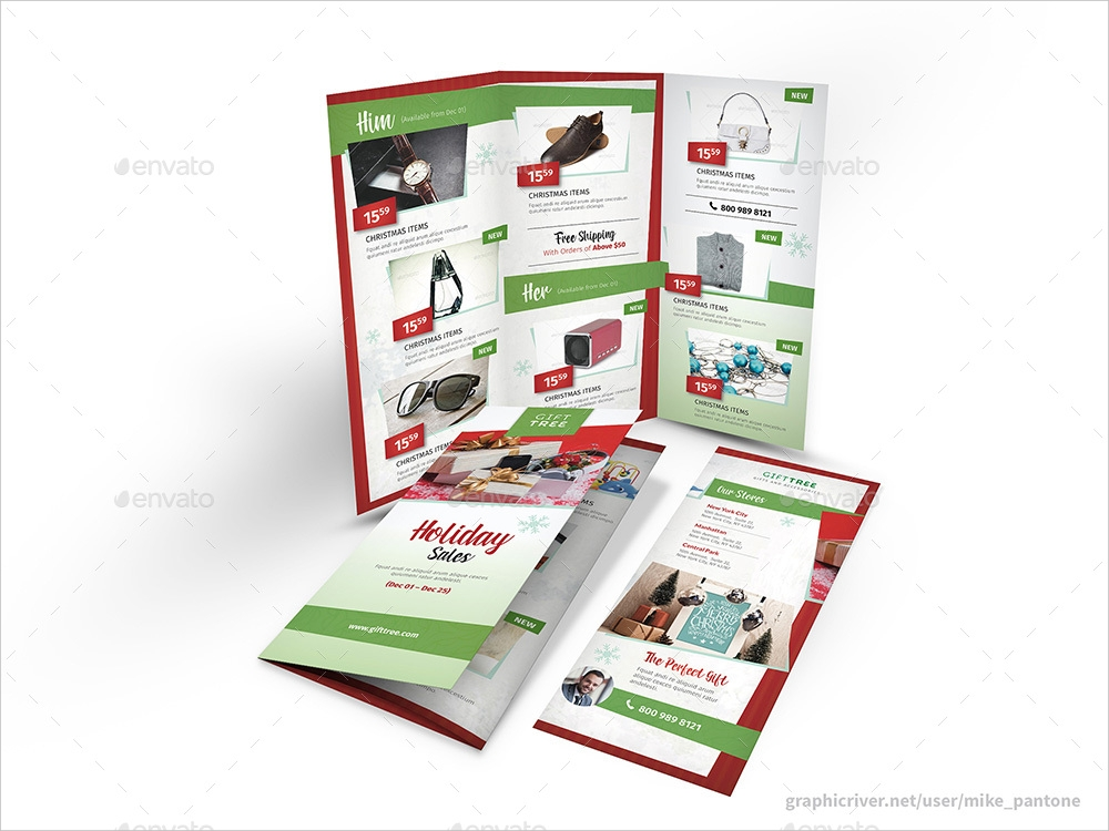holiday sales trifold brochure