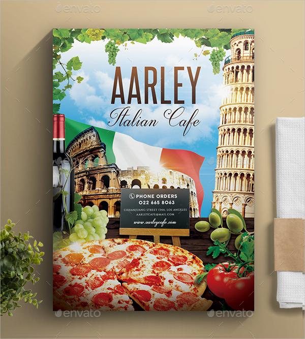 italian cafe menu