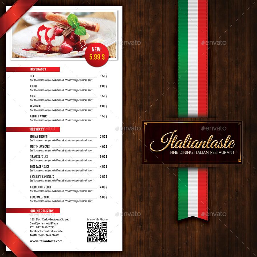 15 italian menu designs examples psd ai Italian designs