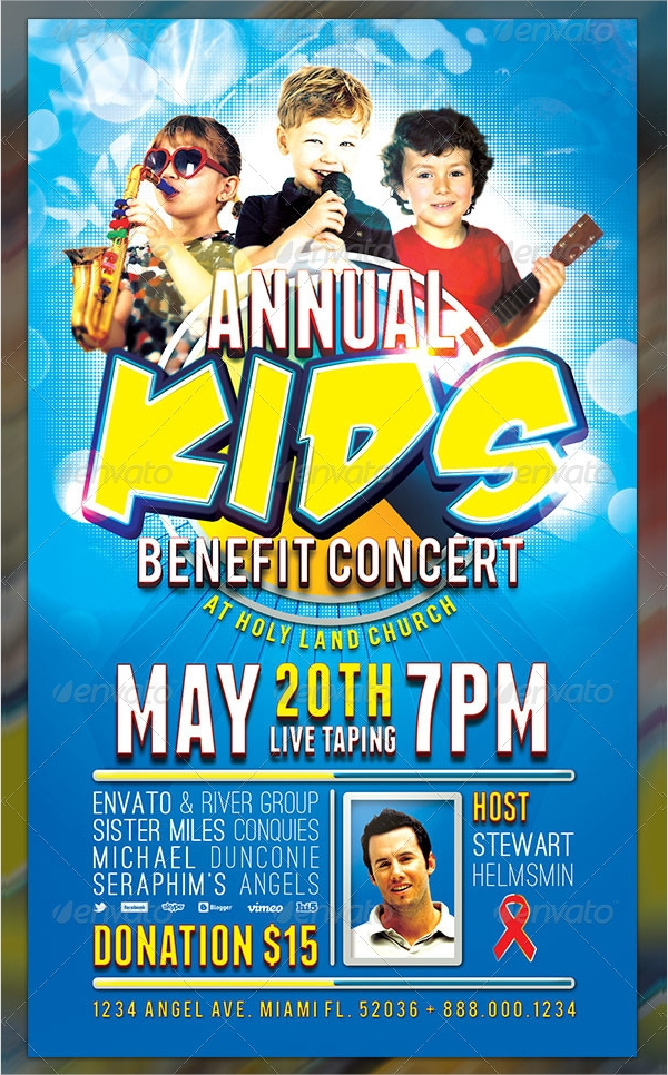 kids benefit concert flyer template