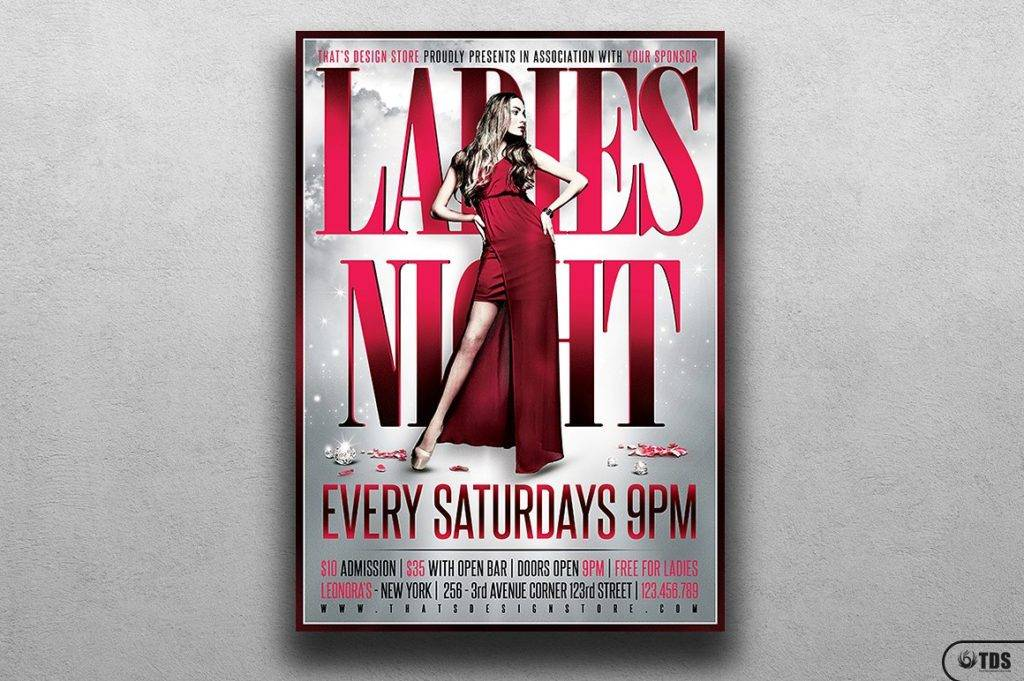 ladies night flyer poster