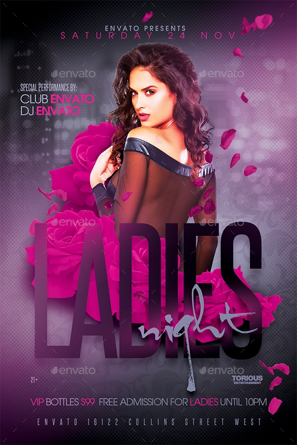 ladies night flyer template