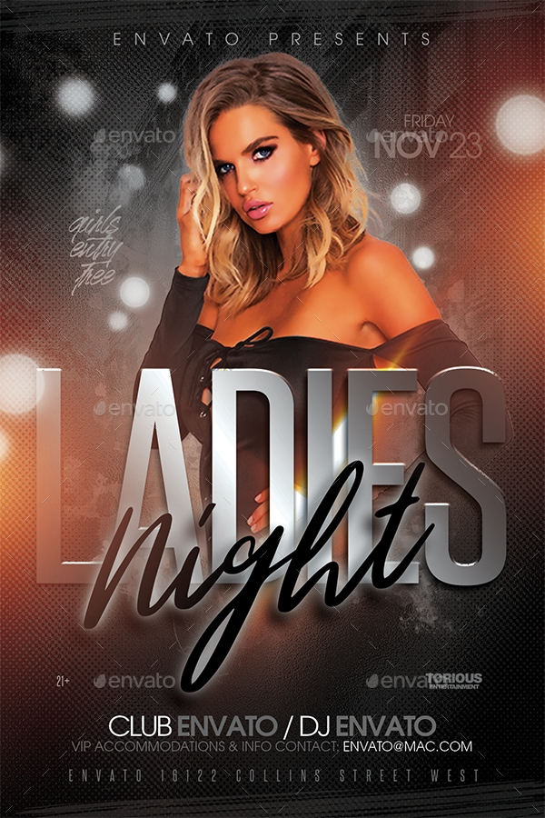 ladies night flyer template1