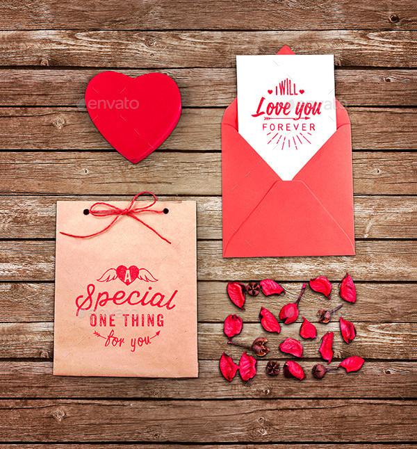love greeting card mock up