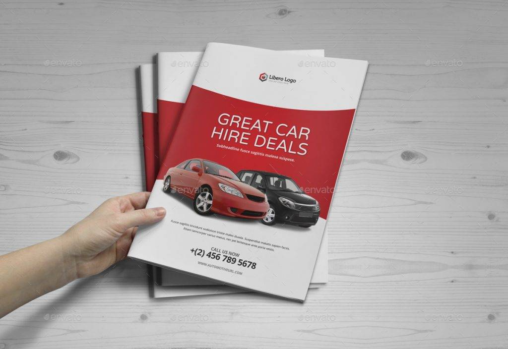 luxury car sale rental brochure