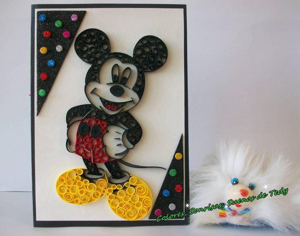 mickey mouse handmade card