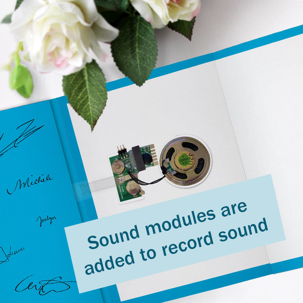 modern greeting card with music