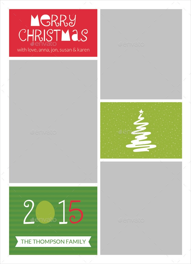 modern photo christmas greeting card