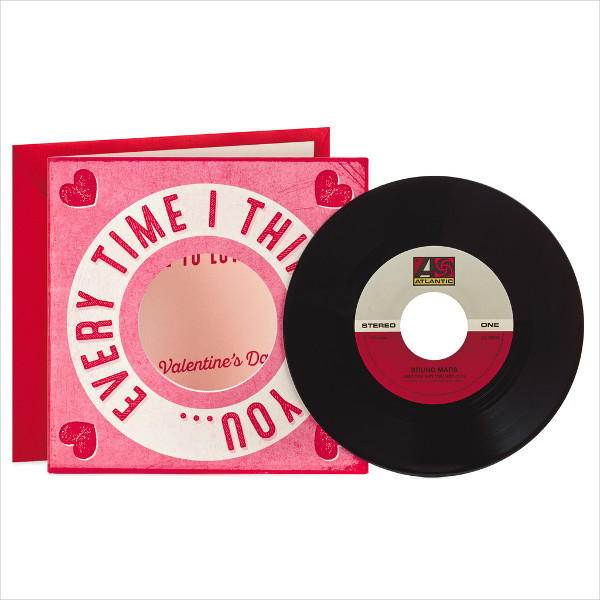 more to love valentines day card with vinyl record