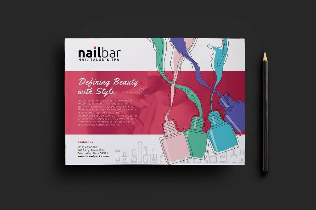 Nail Salon Flyer Designs  Examples  Psd Ai