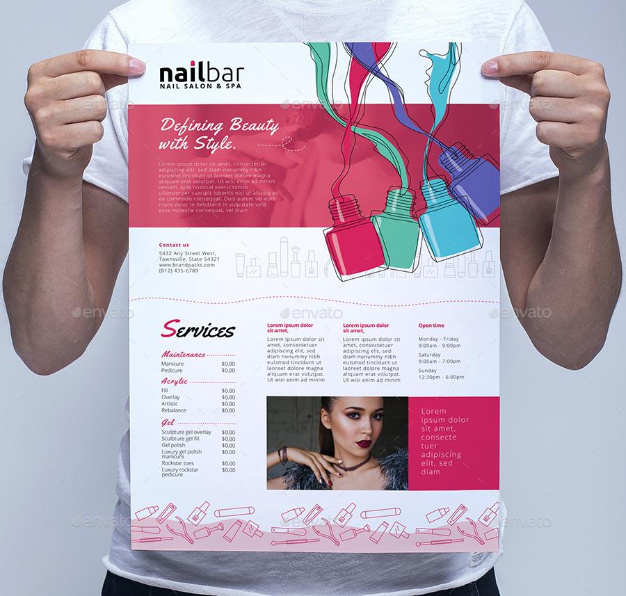 nail bar templates bundle