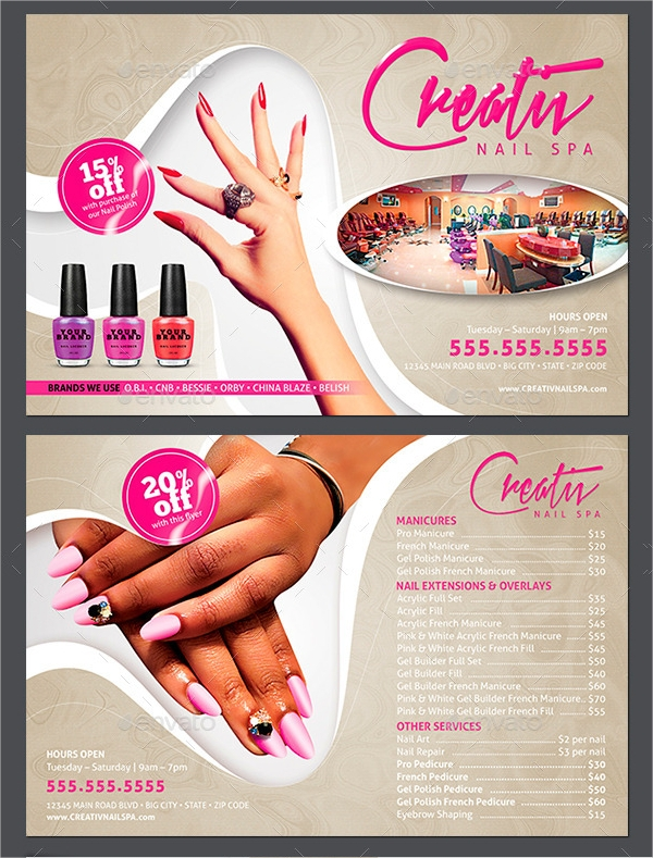 16+ Nail Salon Flyer Designs & Examples