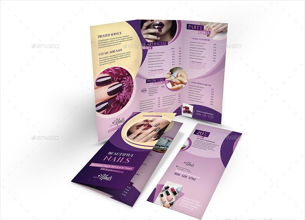 nails salon flyer bundle