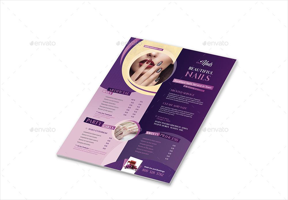 nails salon flyer