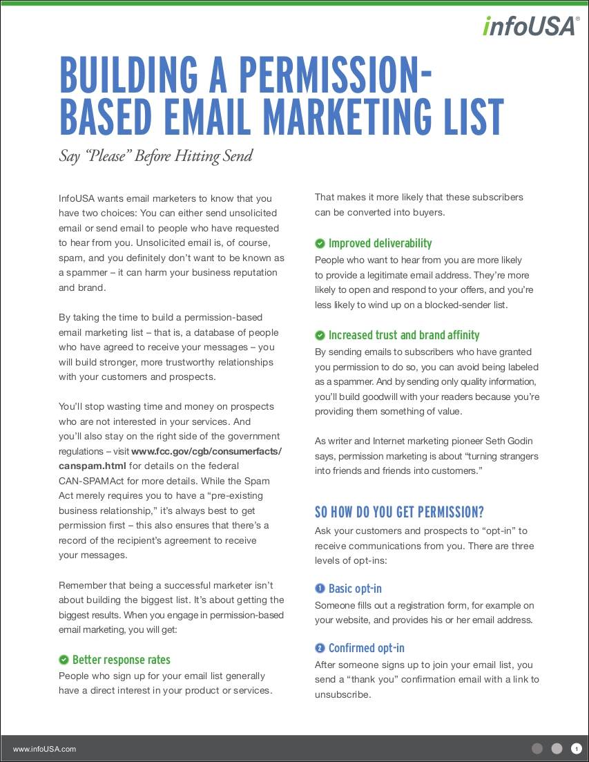 permissionbased email marketing sample