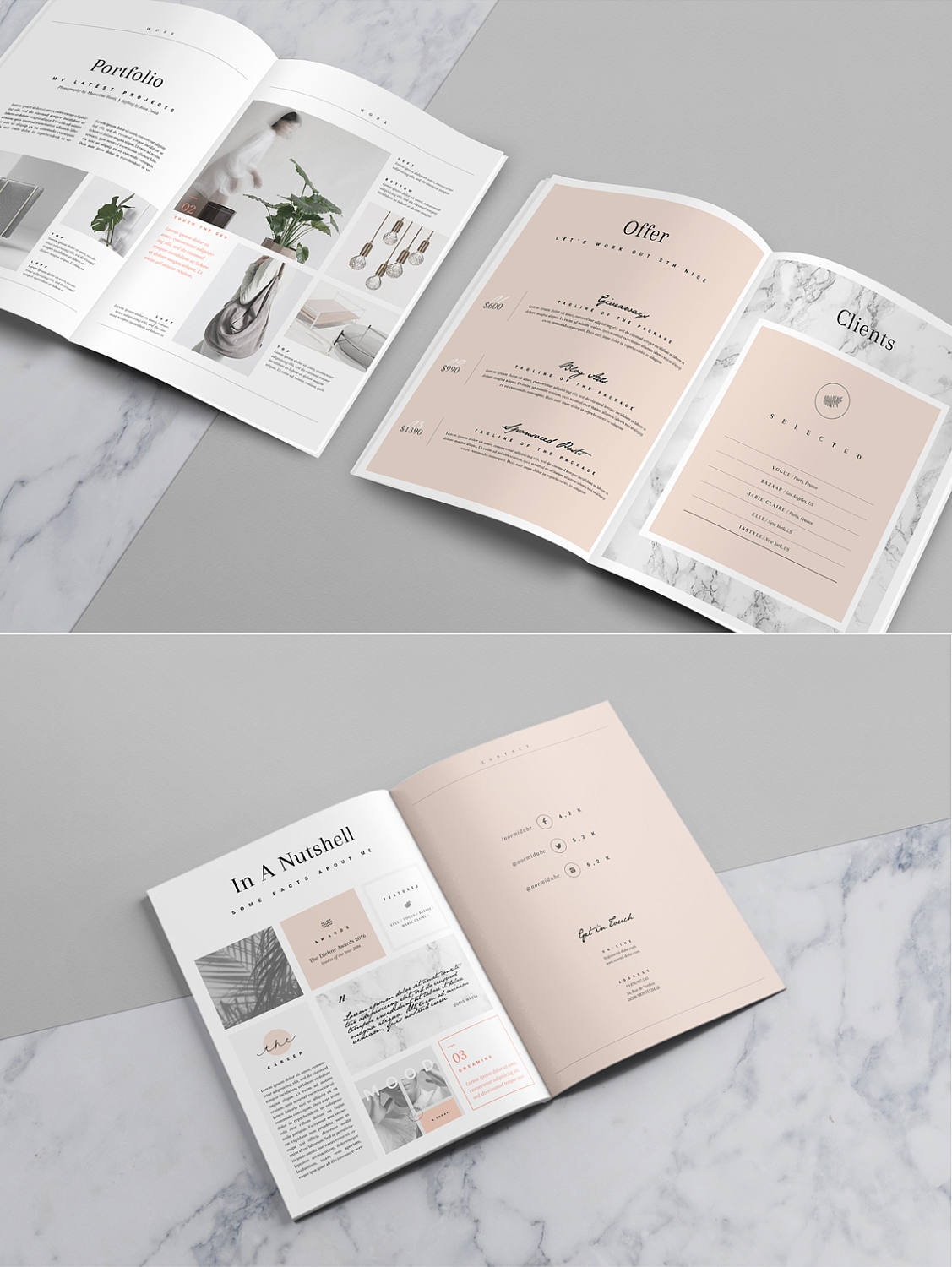 portfolio and magazine psd template