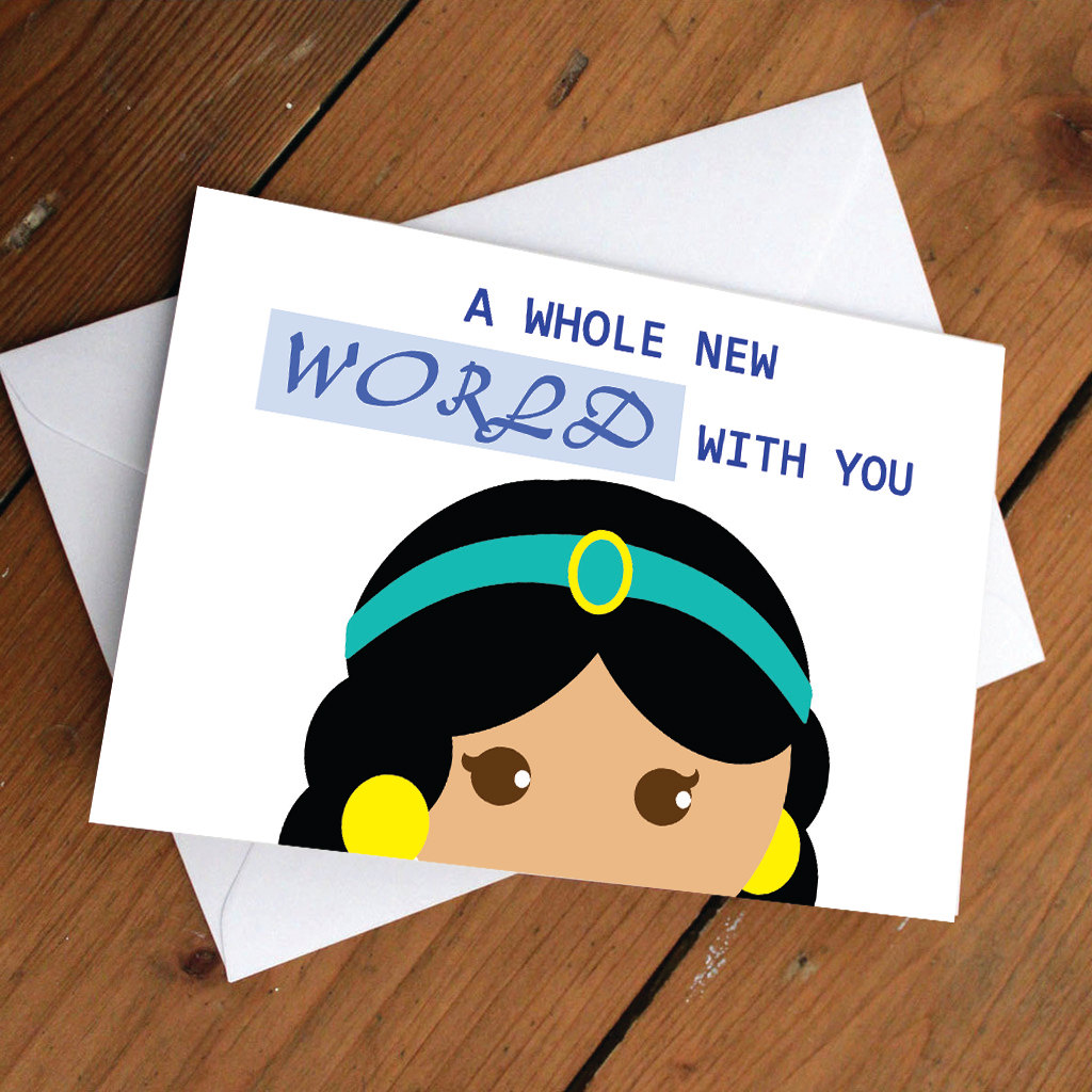 princess jasmine disney greeting cards