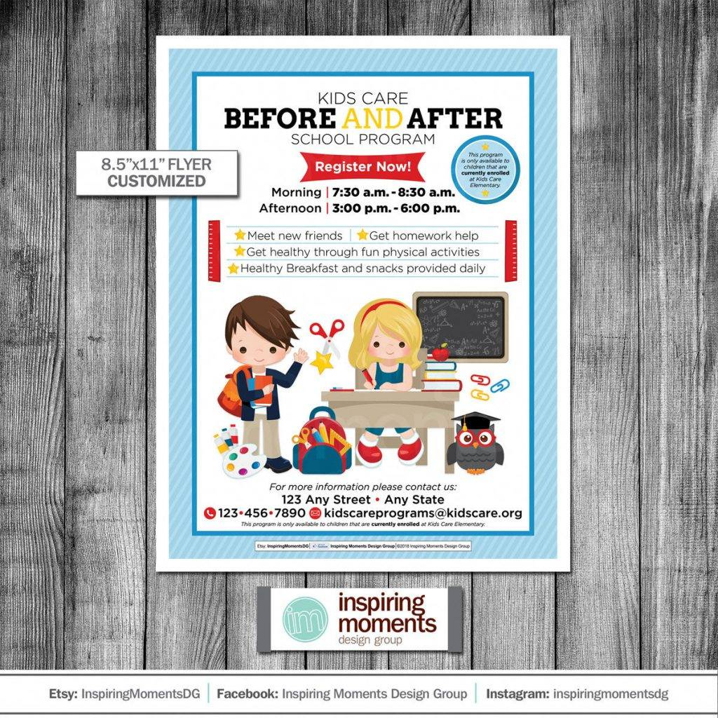 printable before and after care flyer