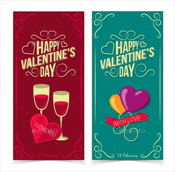 saint valentines day banners
