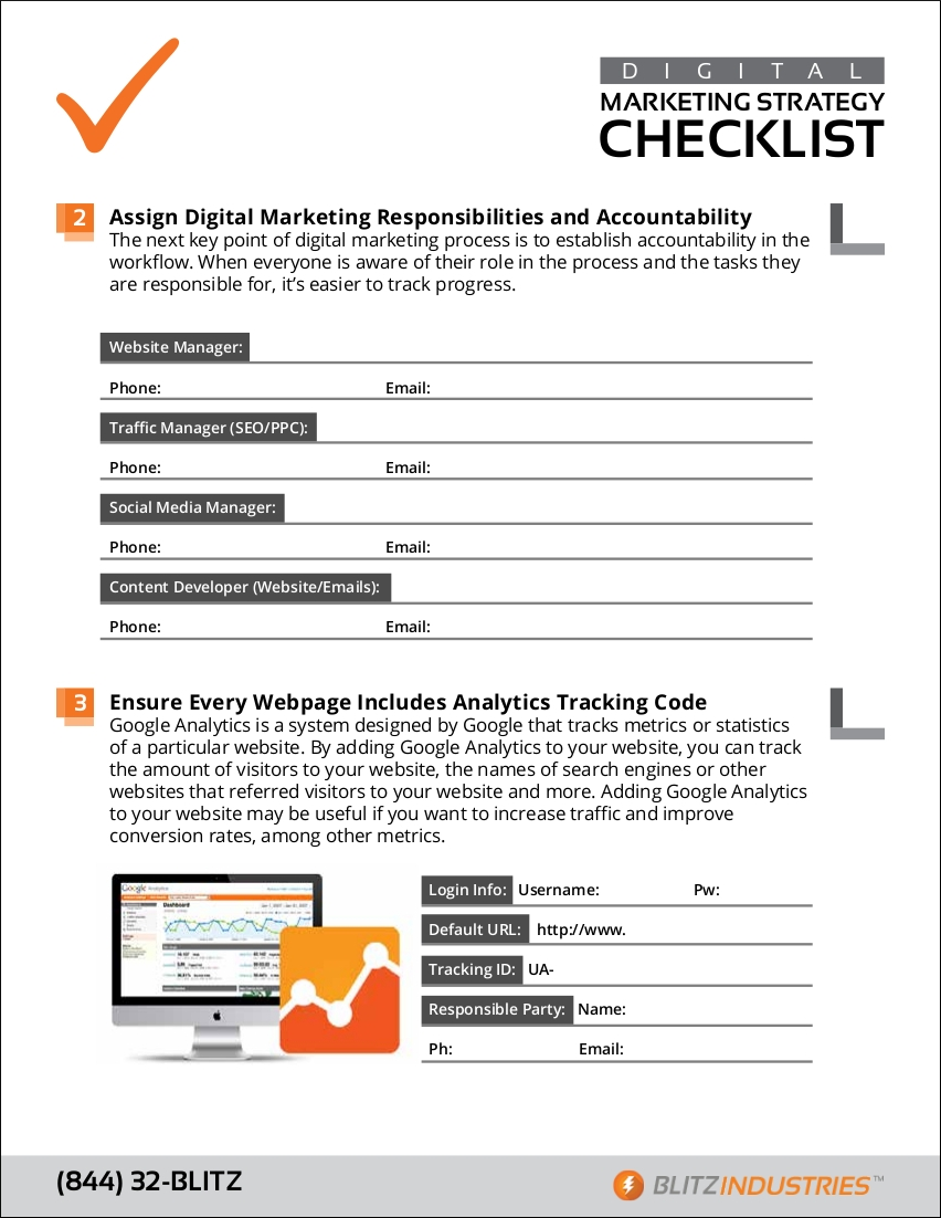 sample checklist for digital marketing strategy