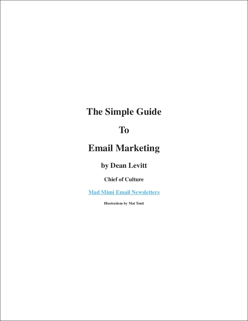 sample email marketing guide in pdf