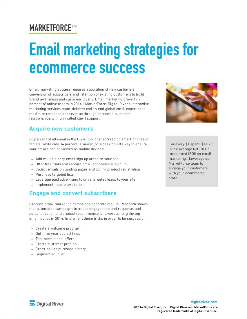 sample email marketing strategies for ecommerce success