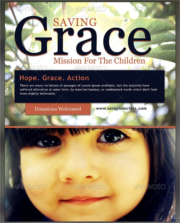 saving grace church charity flyer template