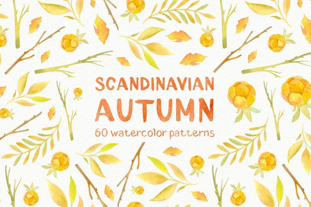 scandinavian fall greeting card