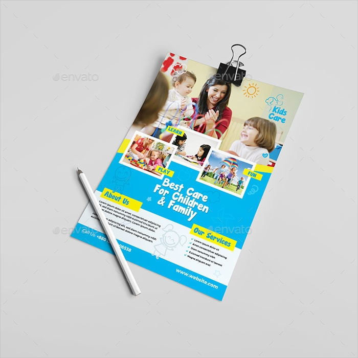 simple kids care flyer