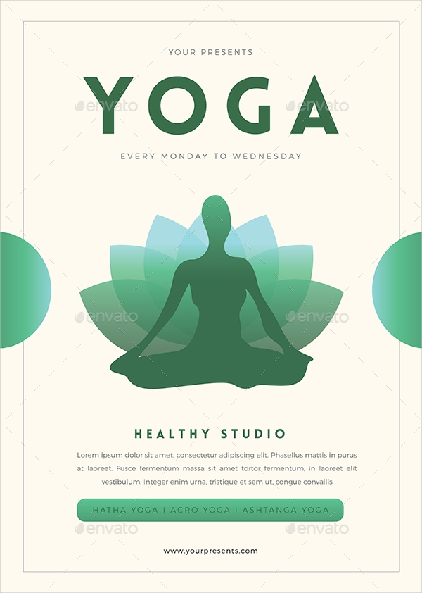 Yoga Flyer. Simple Yoga Flyer Yoga Flyer Designs Examples Psd Ai ...