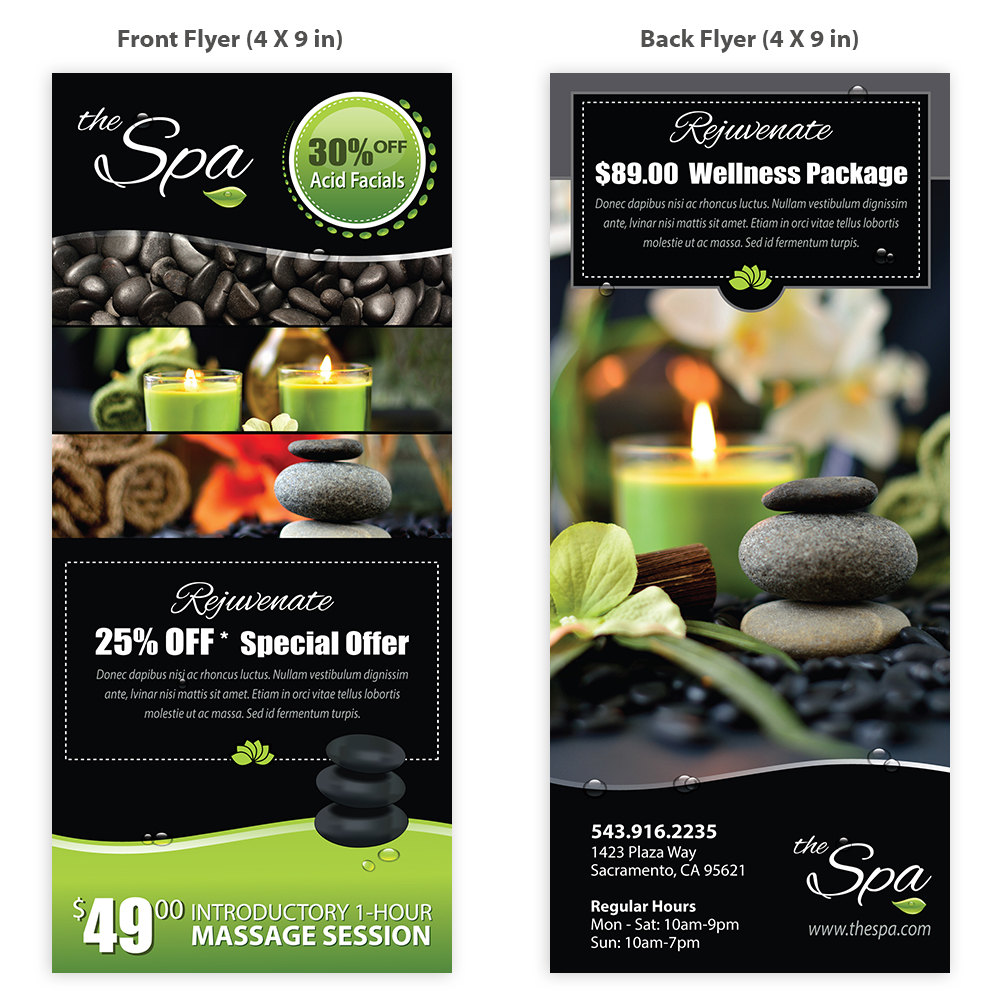 spa massage flyer template