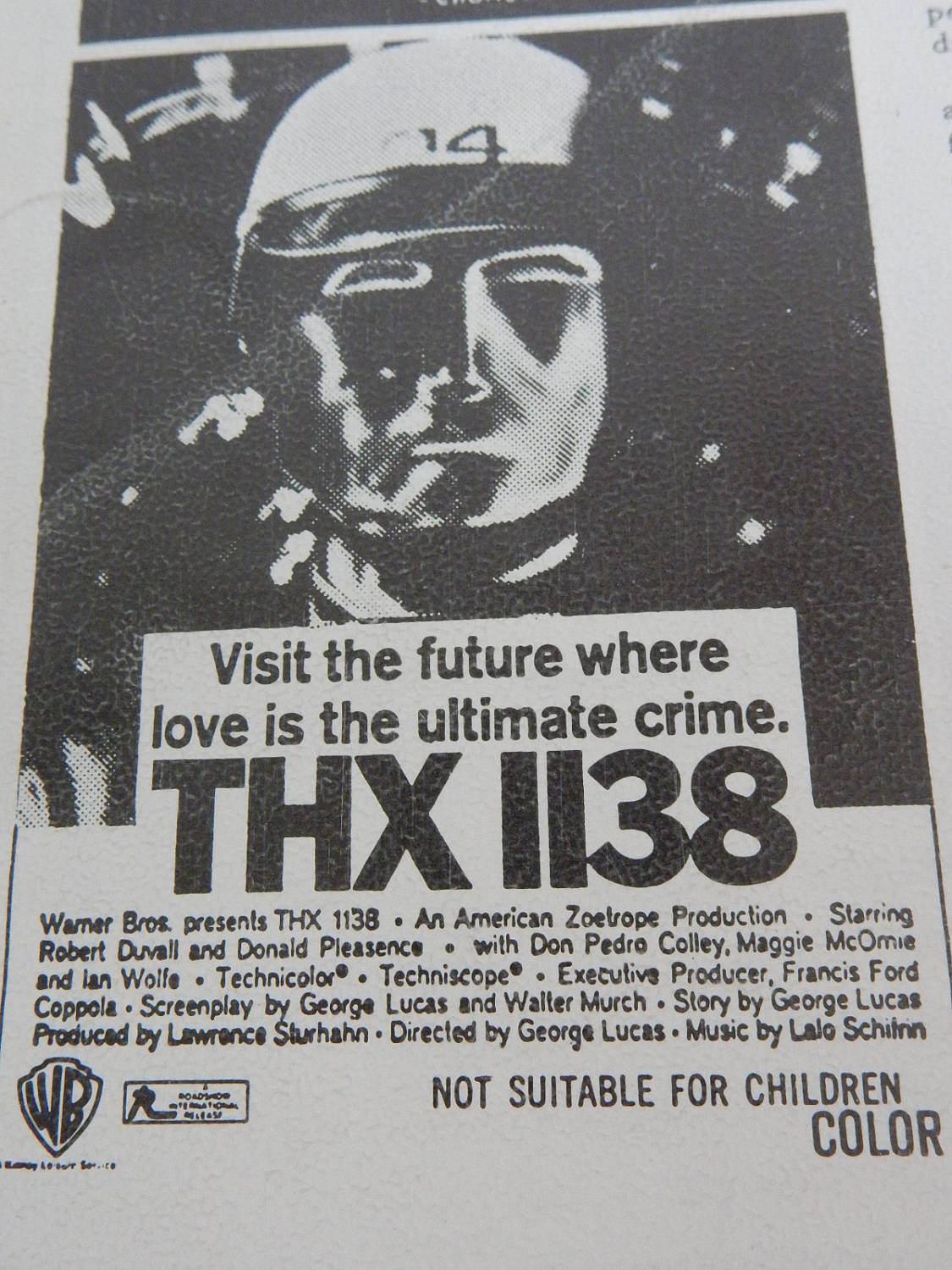 thx 1138 promotional flyer